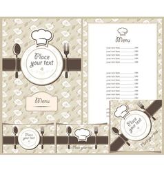 menu plate vector image