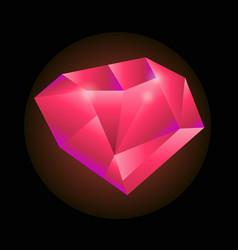 red precious gem vector image vector image
