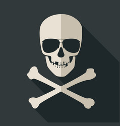 skull and crossbones with sunglusses vector image vector image