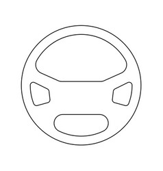 steering wheel the black color icon vector image vector image