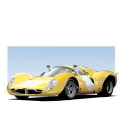 yellow sportscar vector image vector image