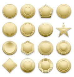 blank gold labels set vector image
