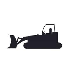 bulldozer truck construction sign vector image