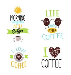 coffee badge food design hand drawn calligraphic vector image