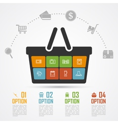 e commerce infographic 4 vector image vector image