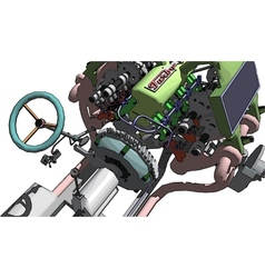 Engine and gearbox vector image vector image
