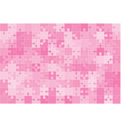 Pink 150 puzzles pieces jigsaw vector
