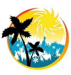 summer scene vector image vector image