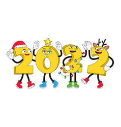 2022 new year characters vector