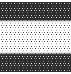 296black and white polka dot pattern vector