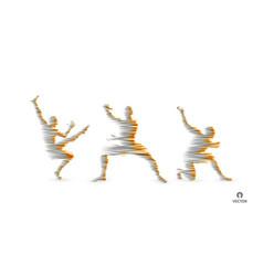 3d model of man sport symbol design element vector