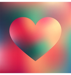 Abstract heart Greeting card vector image