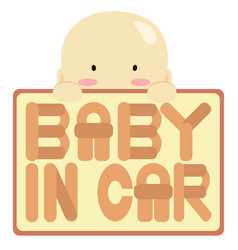 baby in car vector image