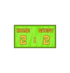Baseball score board icon cartoon style vector