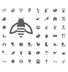 Bee icon spring icon set vector