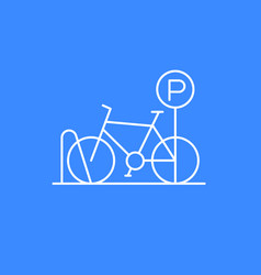 bicycle parking icon thin line vector image