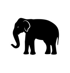 black elephant silhouette vector image