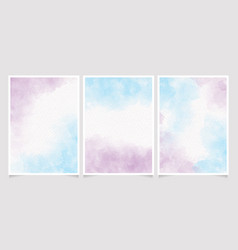 Blue and violet unicorn watercolor wet wash vector