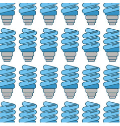 Blue save bulb with leaves background vector