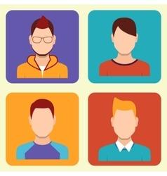 Boys Icons Set vector