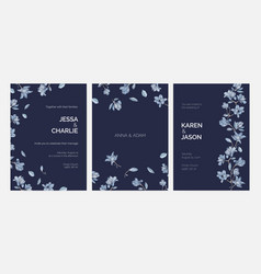 Bundle of elegant templates for save the date card vector