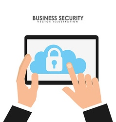 business security design vector image