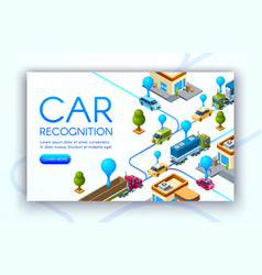car recognition technology vector image