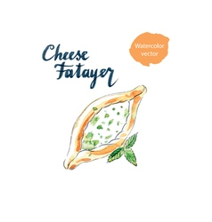 Cheese fatayer vector