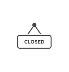 closed sign graphic design template vector image