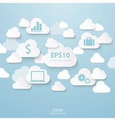 Cloud business vector