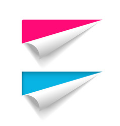 Corner peel paper banner curled fold page vector
