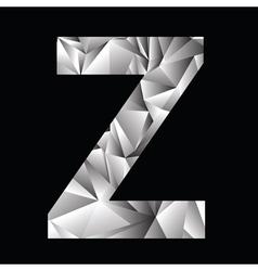 Crystal letter Z vector
