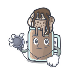 Doctor milkshake character cartoon style vector