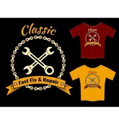 Fix and Repair T-Shirt Template Design vector image
