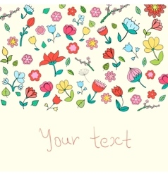 Flowers text placeholder color vector