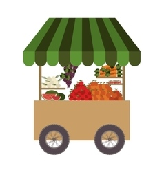 Food cart icon vector