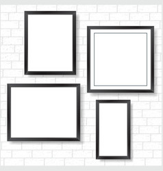 frames on bricks wall vector image