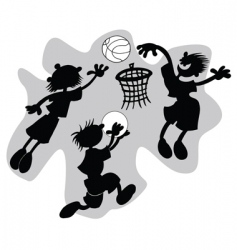 funny basketball vector image