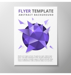 Geometric triangular abstract flyer vector