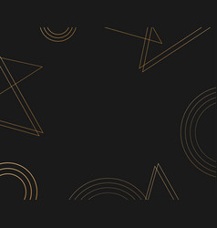 gold lines and dark abstract background design vector image