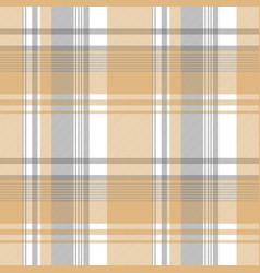 Gold silver color check fabric texture seamless vector