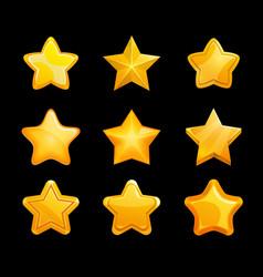 Gold stars game ranking set user interface vector
