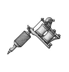 hand drawn tattoo machine vector image