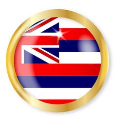 hawaii flag button vector image