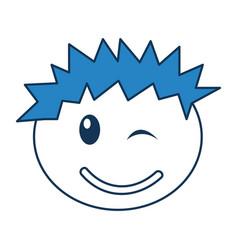 Head boy happy expression vector