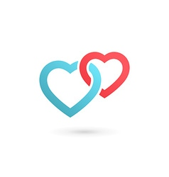 Heart symbol logo icon design template may be used vector