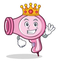 King hair dryer character vector