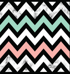 Marble texture design with geometric chevron vector