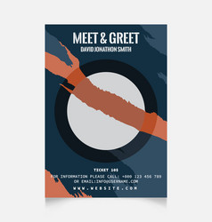 Meet greet flyer vector