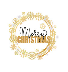 merry christmas calligraphy doodle isolated vector image